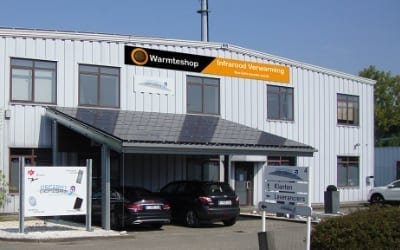 Warmteshop Holsbeek infrarood verwarming winkel showroom