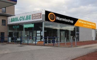Warmteshop Stekene infrarood verwarming winkel showroom