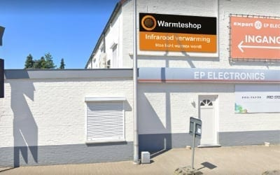 Warmteshop Tessenderlo infrarood verwarming winkel showroom