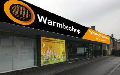warmteshop Aallter infrarood verwarming winkel showroom